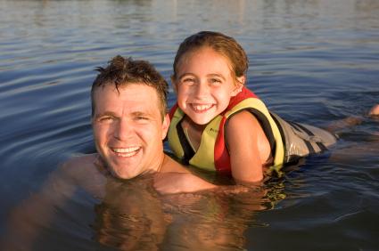Swimming in the Great Sacandaga Lake