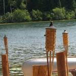 Tiki-torches Adirondack Lake