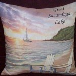 Adirondack Country Store - Great Sacandaga Lake Throw Pillow