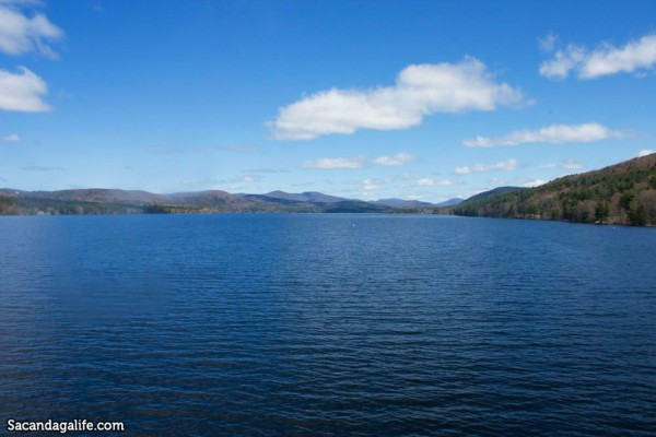 View of the Great Sacandaga Lake from the Batchellerville Bridge