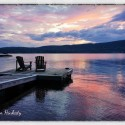 Sunset over the Great Sacandaga Lake