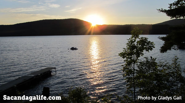 As the sun begins to fall over the sacandaga
